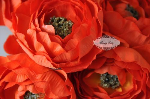 - SaSSY Steal - 2.5in Orange Ruffle Ranunculus - Limited Time Special