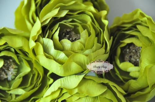 - SaSSY Steal - 2.5in Lime Ruffle Ranunculus - Limited Time Special