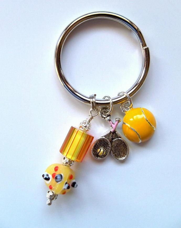 Purse Jewelry - Tennis Ball/Racquet