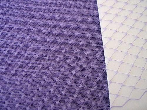Lilac Lavender Millinery Hat Veiling Fascinator Veil