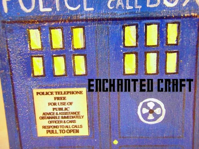 Dr Who? TARdiS box- Trinket size OR RING BOX