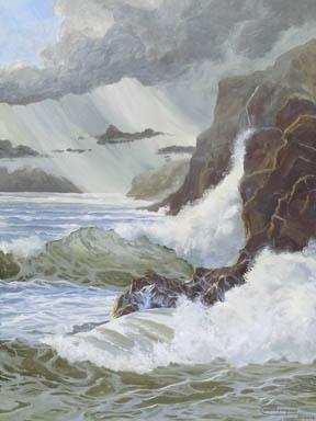 """January Showers"" Canvas Giclee Print by Carol Thompson"
