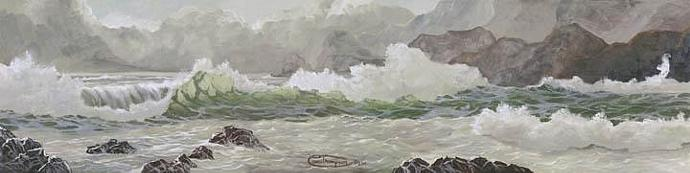 """A Stormy Sea"" Canvas Giclee Print by Carol Thompson"