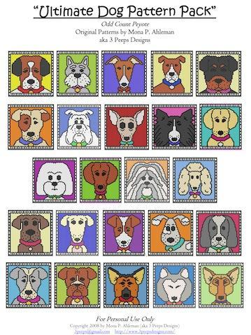 Ultimate Dog Pack of Peyote Patterns by 3 Peeps Designs