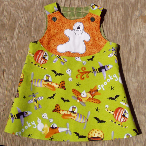 Flights on Halloween Nights, Reversible Baby Dress