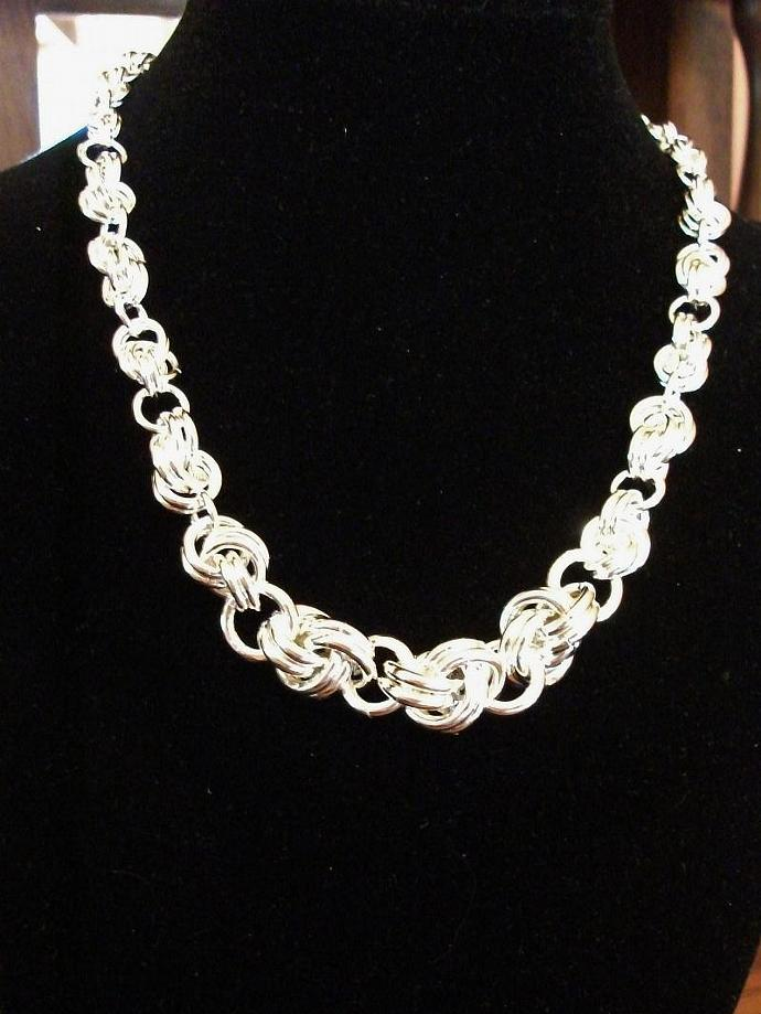 Argentium Silver Graduated Knot Choker