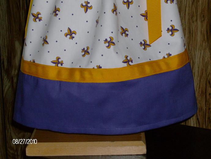 Personalized Purple and Gold Fleur de Lis Boutique