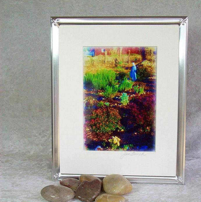 Mother Marys Garden Photoprint, 5x7 print matted to  8x10 inches overall