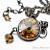 Golden Shadow Crystal Gunmetal Pendant Necklace