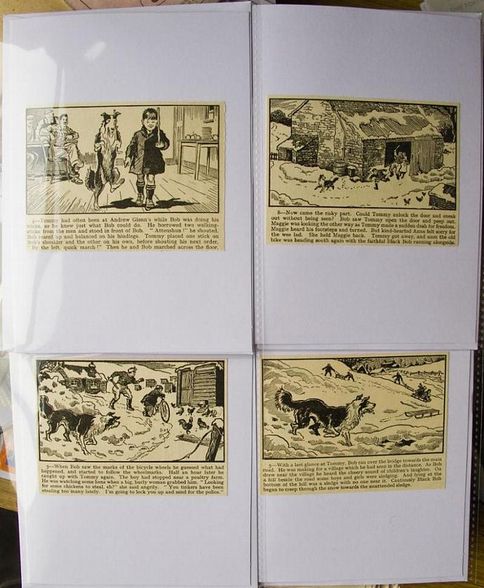 Black Bob story panel cards