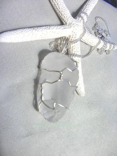 Ccaj white beach glass pendant 2096 by cherylcoccaro on zibbet ccaj white beach glass pendant 2096 aloadofball Image collections