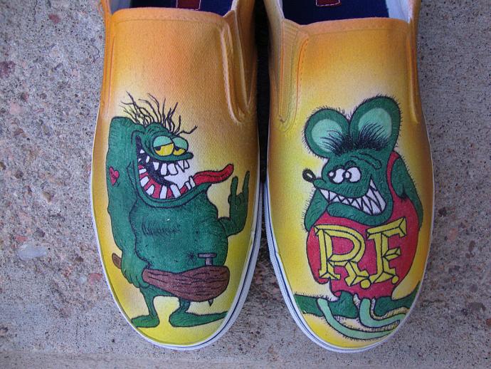 932657c51479 Rat Fink Custom Designed Shoes by inkwear99 on Zibbet