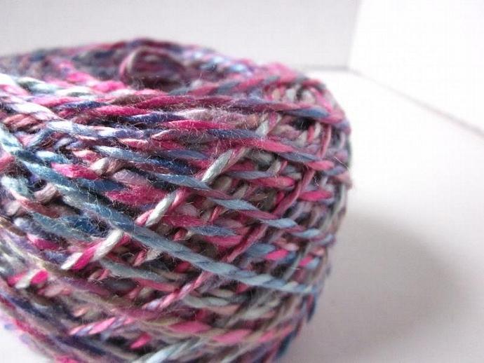 Handspun Hand-dyed Vegan Rayon 2-ply Yarn