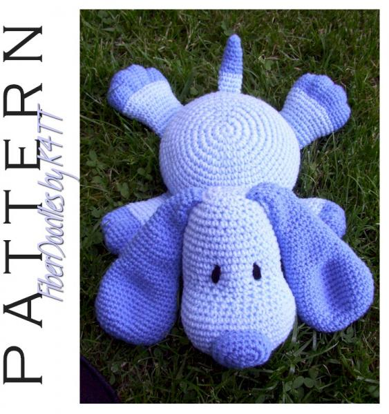 Crochet Pattern Pillow Pal Puppy By Fiberdoodlesbyk4tt On Zibbet