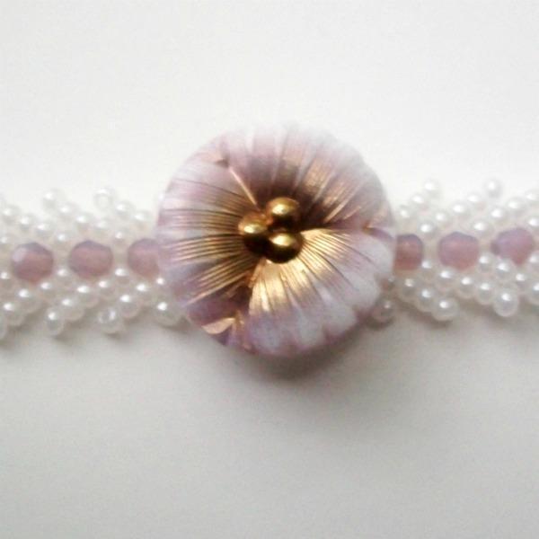 Bracelet with Vintage Button