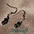 Dainty Teal and Black Earrings 10090