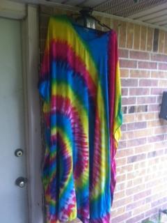 Custom Tie Dye Caftan Dress