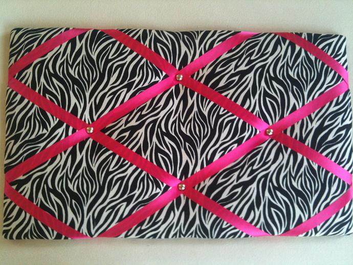 Pin Boards/Notice Boards/Memo /Zebra Pink