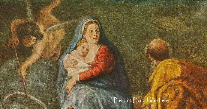 The Flight Into Egypt 1929 Antique Peter Paul Rubens Christmas Story Fine Arts