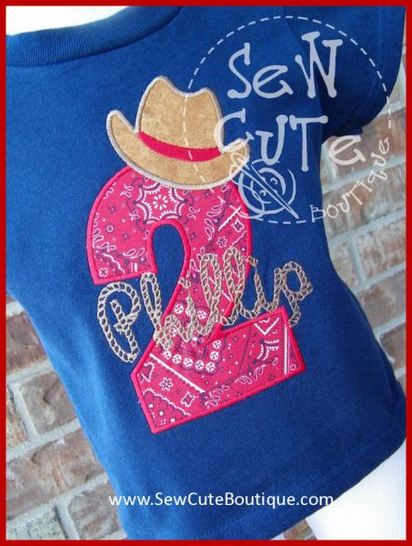 Cowboy Or Cowgirl Birthday Shirt By SewCuteBoutique On Zibbet