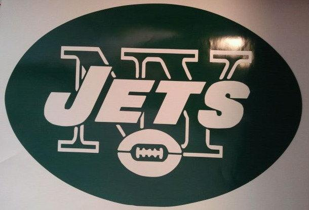 New York Jets Vinyl Decal Set Of 2 Cornhole Gameboards / Window Decals