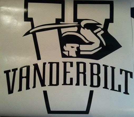 Vanderbilt Commadores Vinyl Decal Set Of 2 Cornhole Gameboards / Window Decals