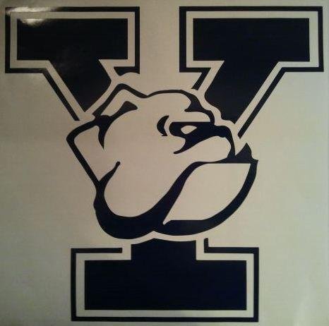 NEW YALE BULLDOGS Vinyl Decal Set Of 2 For Cornhole Game Boards