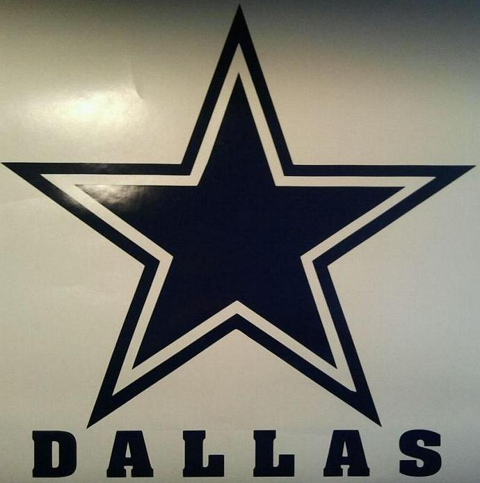 Dallas Cowboys Vinyl Decal Set Of 2 Cornhole Gameboards