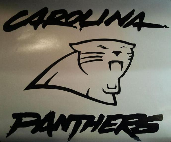 Carolina Panthers Vinyl Decal Set Of 2 For Cornhole Game Boards