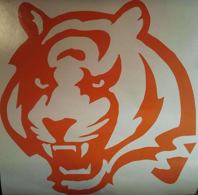 Cincinnati Bengals Vinyl Decal Set Of 2 For Cornhole Game Boards