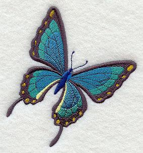 Simply a Victorian Butterfly (design 6)  Embroidered Quilt Block Square