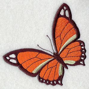 Simply a Victorian Butterfly (design 5)  Embroidered Quilt Block Square