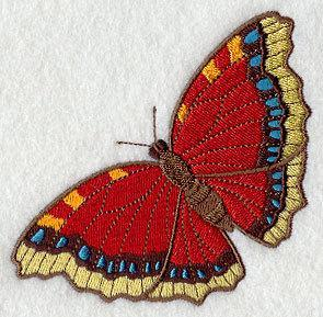 Simply a Victorian Butterfly (design 4)  Embroidered Quilt Block Square