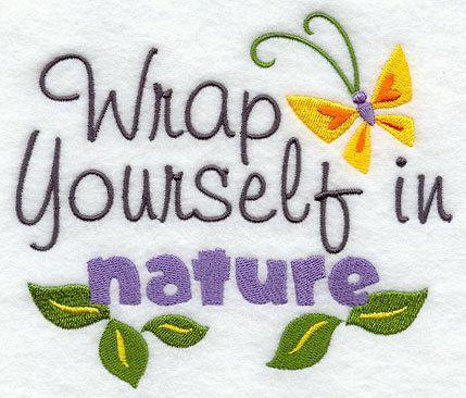 1 Embroidered Flour Sack Towel - Wrap Yourself in Nature
