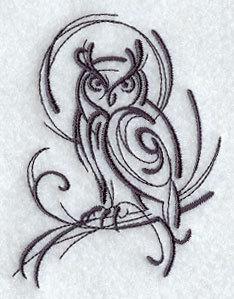 1 Embroidered Flour Sack Towel - Owl