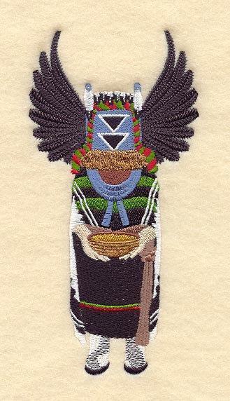 Crow Mother Kachina (1 Block) Embroidered Quilt Block