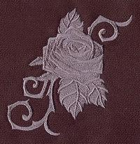 Baroque Punk Rose(1 Block) Embroidered Quilt Block, 4x4