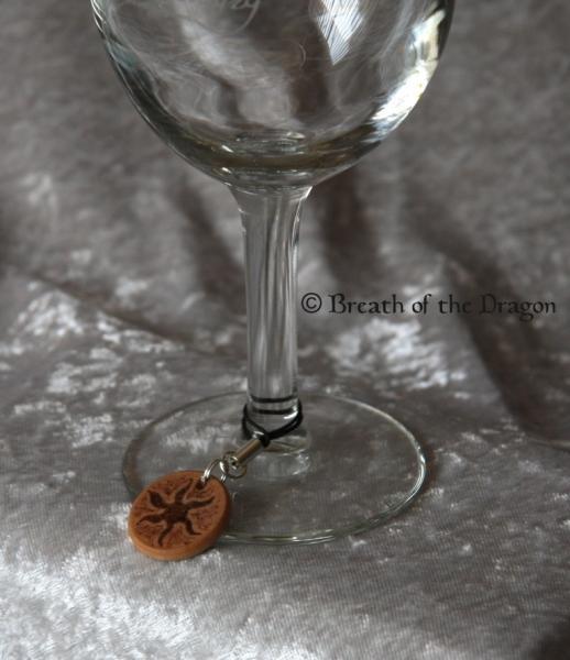 Small wooden charm ~ Spiral Goddess