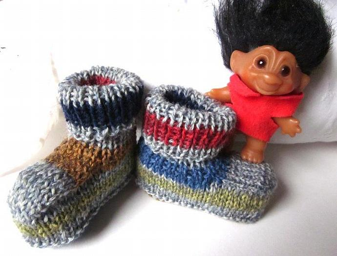 Knitted Baby Booties for the Cool Little Dude