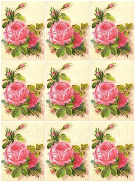 Shabby chic  digital collage sheets for scrapbook and cards DC20