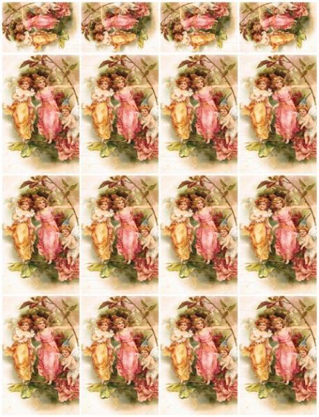 Shabby chic  digital collage sheets for scrapbook and cards DC31