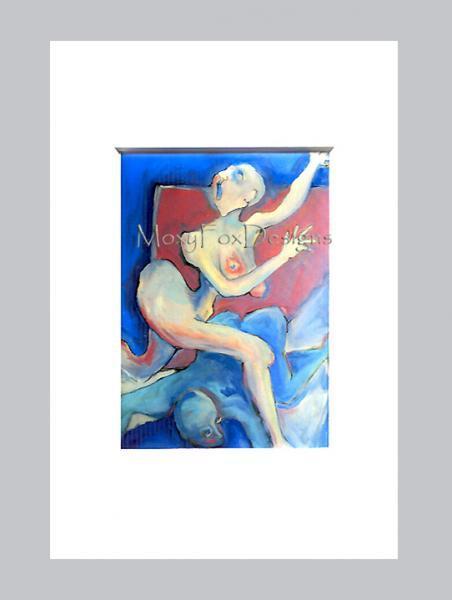 Art -- ACEO  LADY GODIVA  Fine Art Print Naked Breasts Big Hips   FREE US