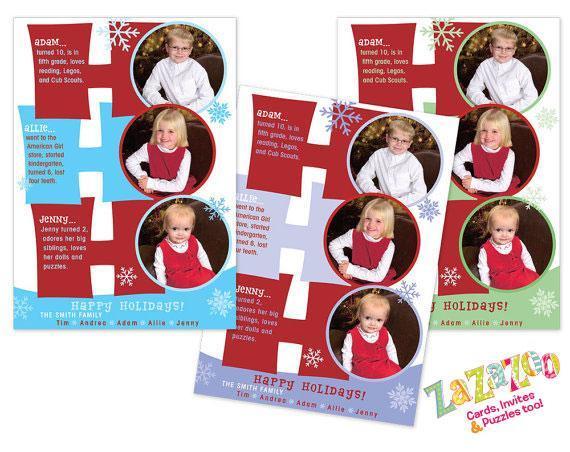 DIY Printable Reflections Word Art Ho Ho Ho Holiday Photo Card, Custom Christmas