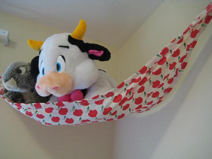Apples Upcycled Teddy Bed (Toy Hammock)- Size Medium