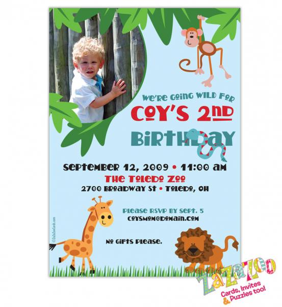 DIY Printable Jungle Animal Zoo Photo By ZaZaZooCards On Zibbet