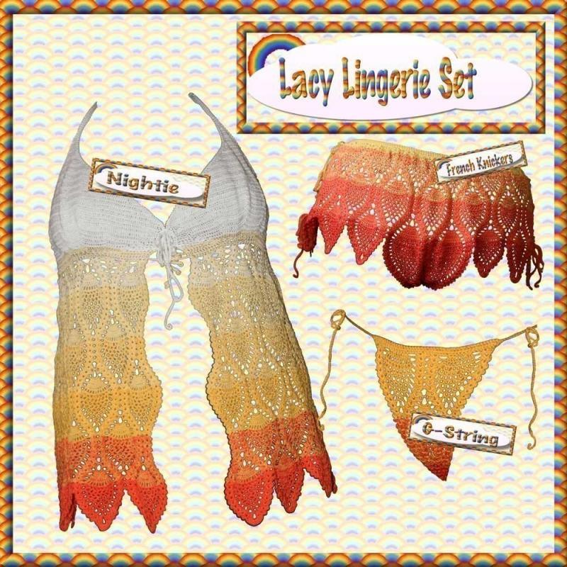 Lacy Lingerie Crochet Pattern Pdf By Rainbowvalleycrochet On Zibbet