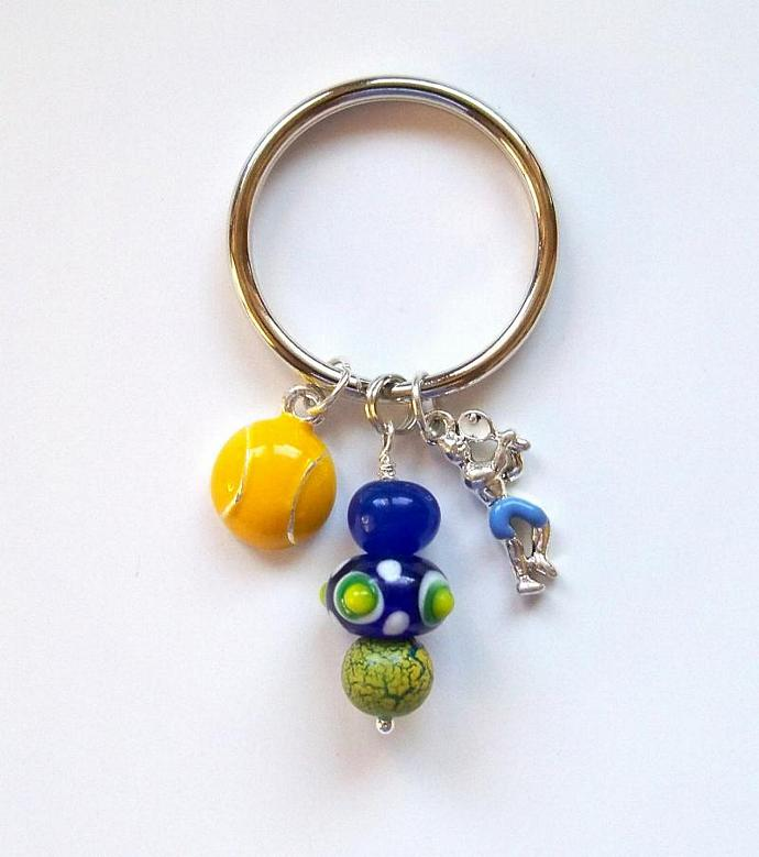 Purse Jewelry - Tennis Ball/Tennis Player