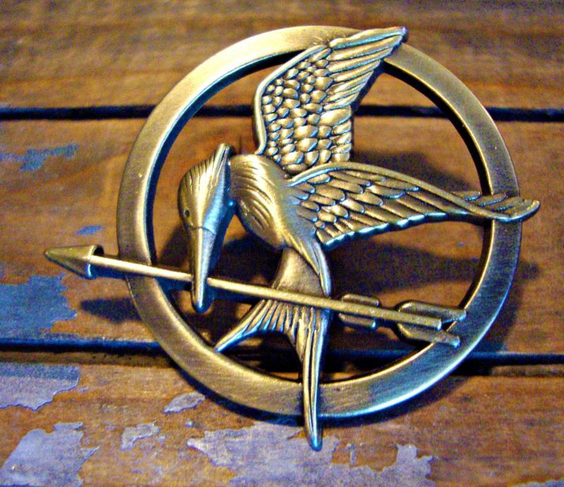 Inspired mockingjay pin by animecouture on zibbet mozeypictures Images