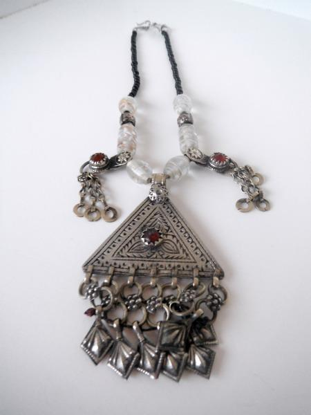 Arabesque Triangle Necklace from Afghanistan