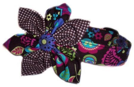 Flower bow dog cat puppy pet collar all sizes custom made xs sm med lg xl
